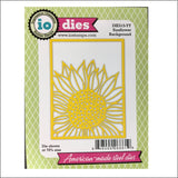 Sunflower Background Die Cut by Impression Obsession Dies DIE515-YY - Inspiration Station Scrapbook Store & Retreat