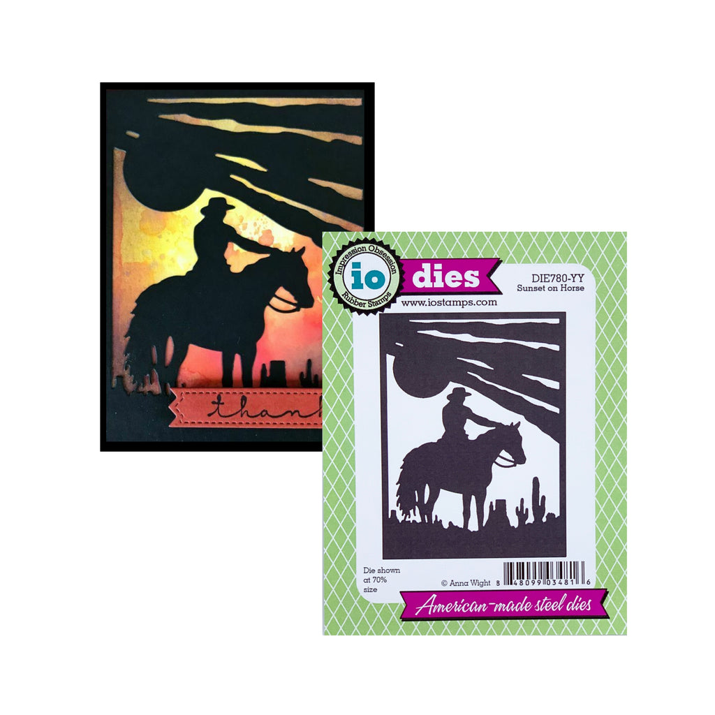 Sunset On Horse Die Cut Set by Impression Obsession Cutting Dies DIE780-YY
