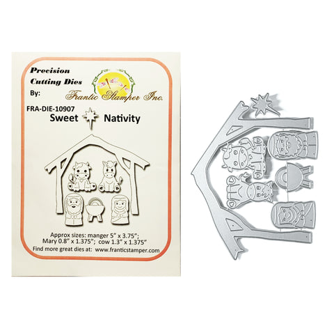 Sweet Nativity Metal Dies by Frantic Stamper craft dies FRA-DIE-10907