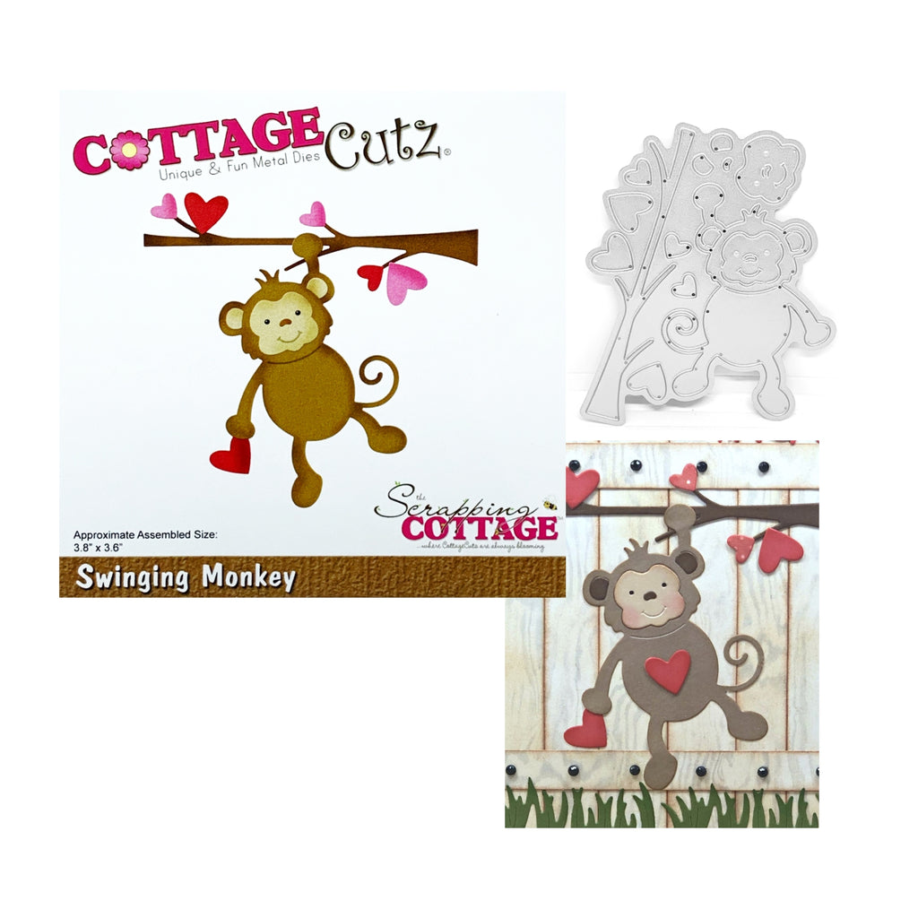 Swinging Monkey Metal Die Set by Cottage Cutz CC-594 - Inspiration Station Scrapbook Store & Retreat