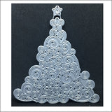 Swirly Christmas Tree Metal Die Cut by Impression Obsession DIE091-P