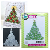 Swirly Christmas Tree Metal Die Cut by Impression Obsession DIE091-P - Inspiration Station Scrapbook Store & Retreat