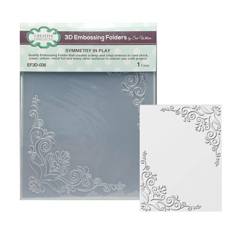 Symmetry in Play Frame 3D Embossing Folder by Creative Expressions Folders EF3D-036