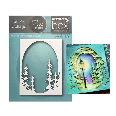 Tall Fir Collage Metal Die Cut by Memory Box Craft Dies 94502