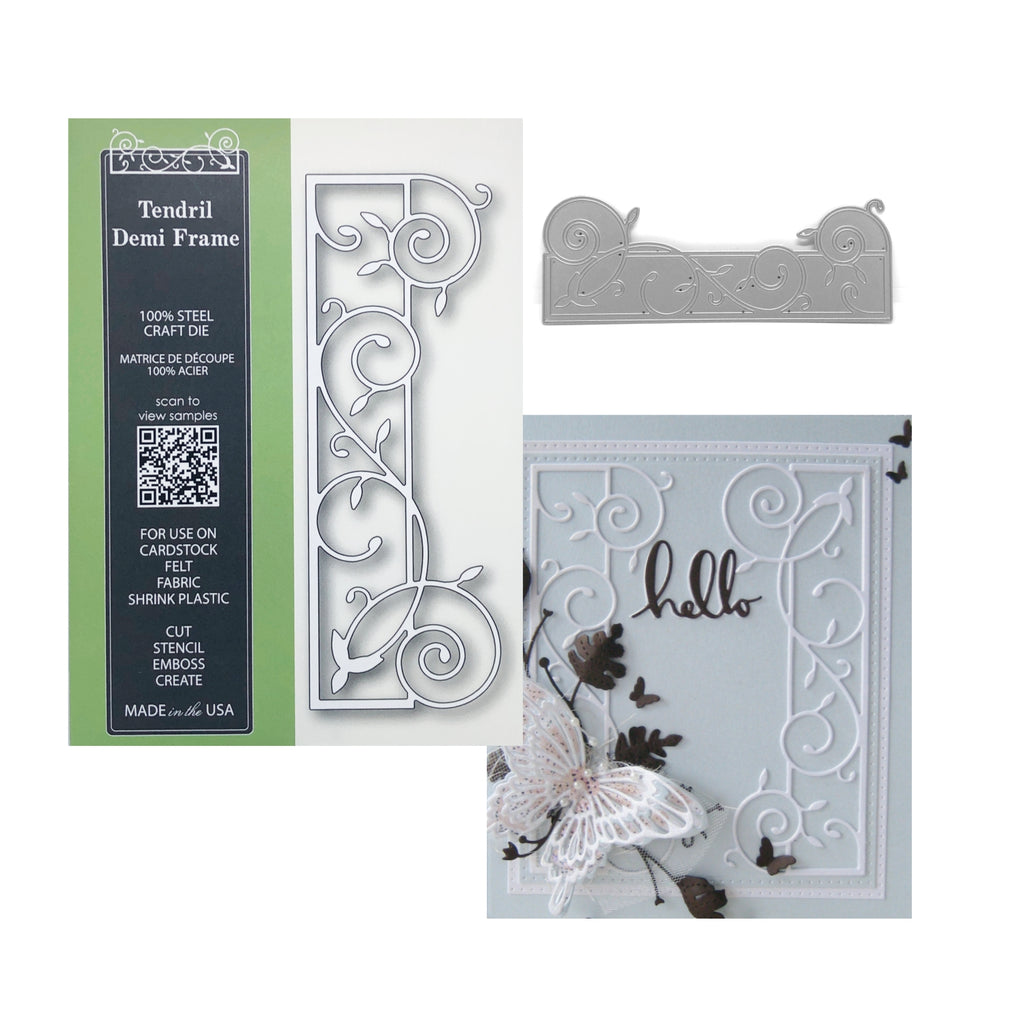 Tendril Demi Frame Metal Die Cut by Poppystamps Dies 1761 - Inspiration Station Scrapook Store & Retreat