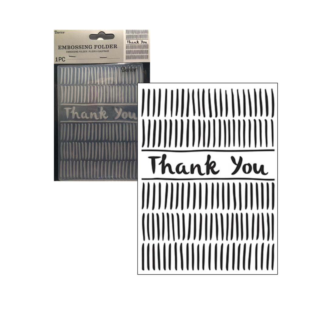 Thank You Embossing Folder by Darice Embossing Folders 30041265 - Inspiration Station Scrapbook Store & Retreat
