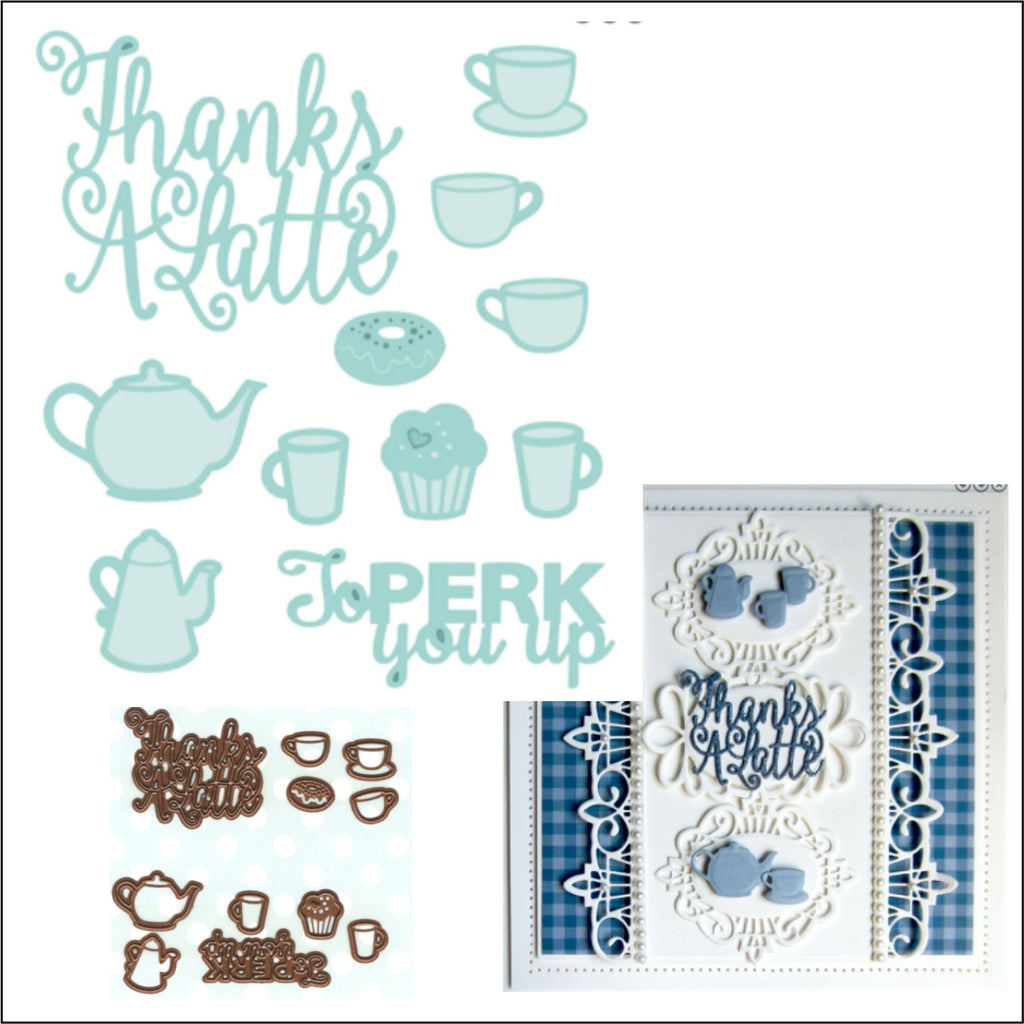 Thanks A Latte Die Cut Set by Creative Expressions Craft Dies - Inspiration Station Scrapbook Store & Retreat