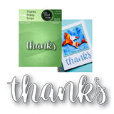 Thanks Folksy Script Word Die Cut by Poppystamps Dies 2069 - Inspiration Station Scrapbook Store & Retreat