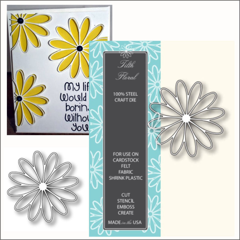 TILTH FLORAL daisy flower die by Memory Box Dies 98320