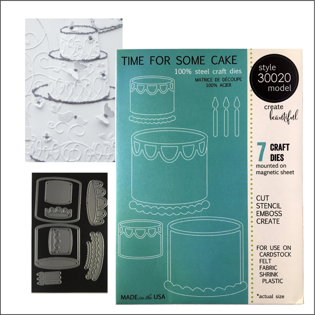 Time For Some Cake Die Cut Set by Memory Box Dies 30020 - Inspiration Station Scrapbook Store & Retreat