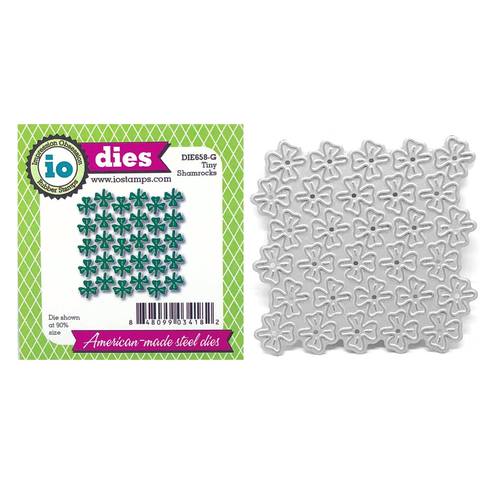 Tiny Shamrocks Metal Die Cut by Impression Obsession Dies DIE658-G - Inspiration Station Scrapbook Store & Retreat