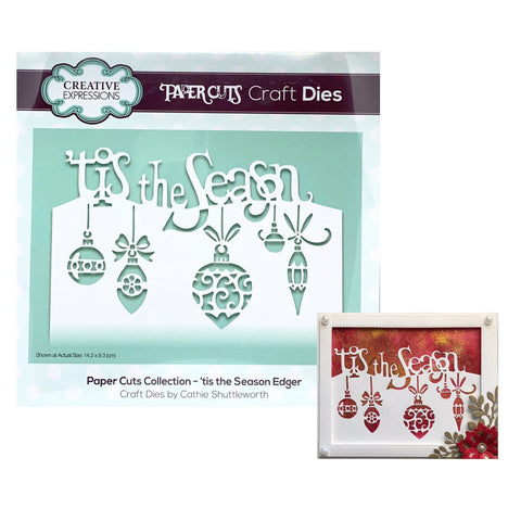 'Tis the Season Edger Metal Die by Creative Expressions CEDPC1088 - Inspiration Station Scrapbook Store & Retreat