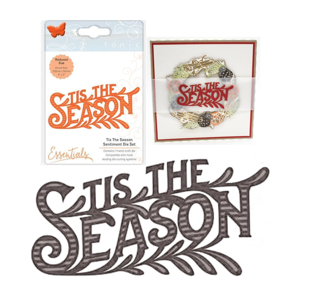 Tis The Season Sentiment Die by Tonic Studios Dies 2164e - Inspiration Station Scrapbook Store & Retreat