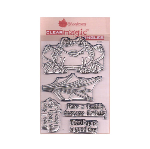Toadally Fantastic Frog Clear cling stamp set by Woodware craft stamps