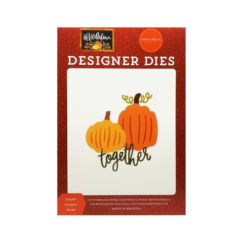 Together Pumpkins metal die set by Carta Bella craft dies