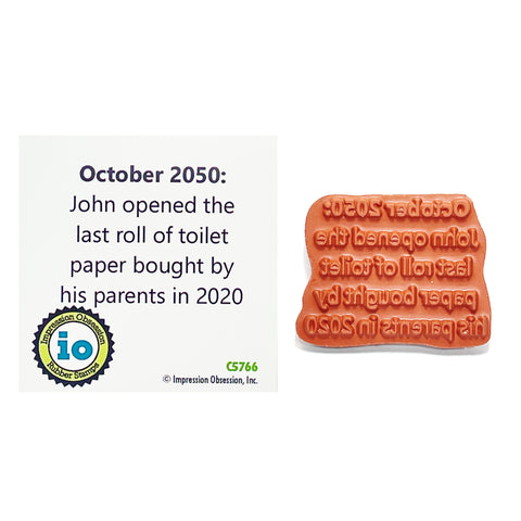 Humor Words Stamp Toilet Paper by Impression Obsession stamp C5766