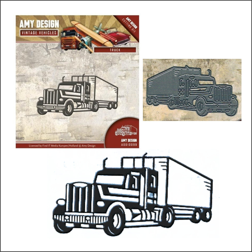 Semi Truck Metal Die Cut by Amy Design Dies ADD10099 - Inspiration Station Scrapbook Store & Retreat