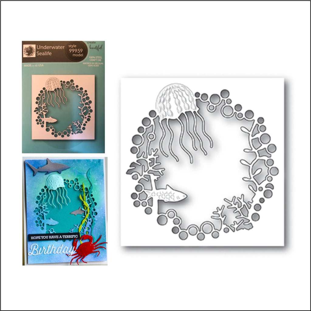 Underwater Sealife Die Cut by Memory Box Dies 99959 - Inspiration Station Scrapbook Store & Retreat