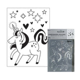 Unicorn Embossing Folder By Darice Embossing Folders 30041341 - Inspiration Station Scrapbook Store & Retreat