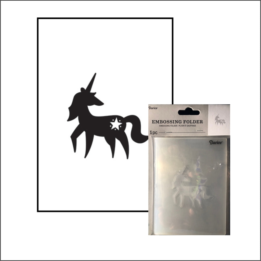 Unicorn Embossing Folder By Darice Embossing Folders 30032593 - Inspiration Station Scrapbook Store & Retreat