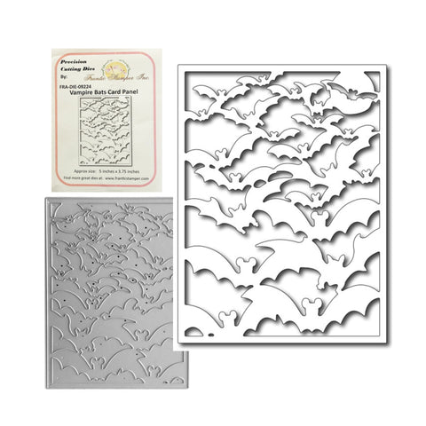 Vampire Bats Card Panel Die by Frantic Stamper Dies FRA-DIE-09224 - Inspiration Station Scrapbook Store & Retreat
