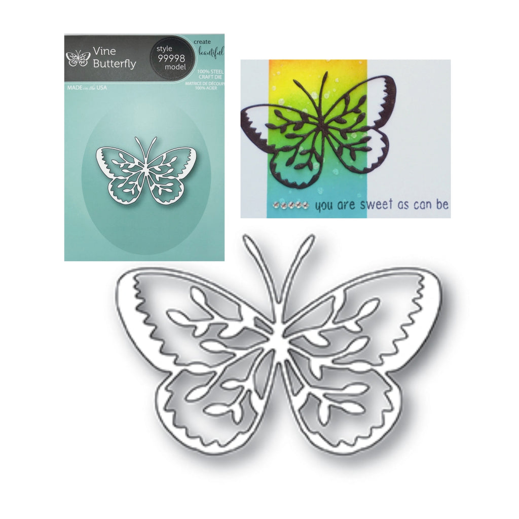 Vine Butterfly Die by Memory Box Dies 99998 - Inspiration Station Scrapbook Store & Retreat