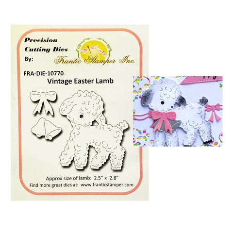Vintage Easter Lamb Steel Craft Die Set by Frantic Stamper FRA-DIE-10770 - Inspiration Station Scrapbook Store & Retreat
