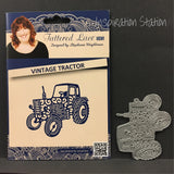 Vintage Tractor metal cutting die by Tattered Lace dies D694