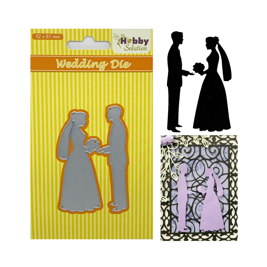 Wedding (Bride & Groom) Thin Metal Die Set by Nellie Snellen Dies HSDJ027 - Inspiration Station Scrapbook Store & Retreat