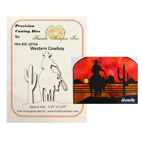 Western Cowboy Metal Die Cut Set by Frantic Stampers Dies FRA-DIE-10756 - Inspiration Station Scrapbook Store & Retreat