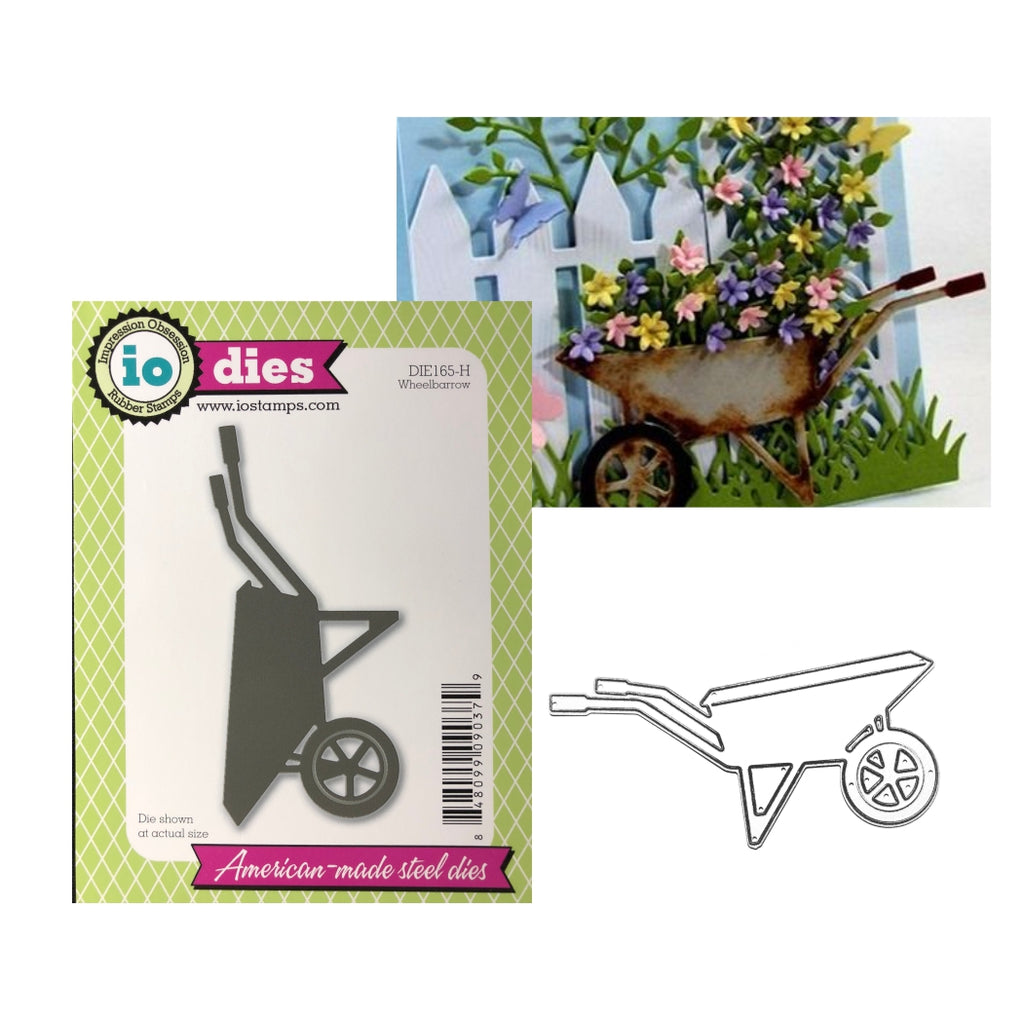 Wheelbarrow Metal Die by Impression Obsession Dies DIE165-H - Inspiration Station Scrapbook Store & Retreat
