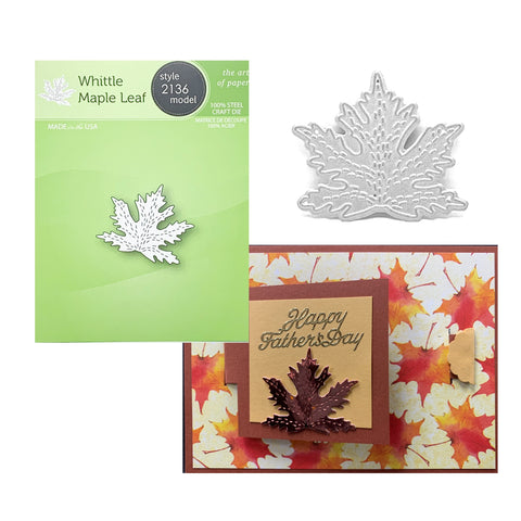 Whittle Maple Leaf Die Cut by Poppystamps Dies 2136 - Inspiration Station Scrapbook Store & Retreat
