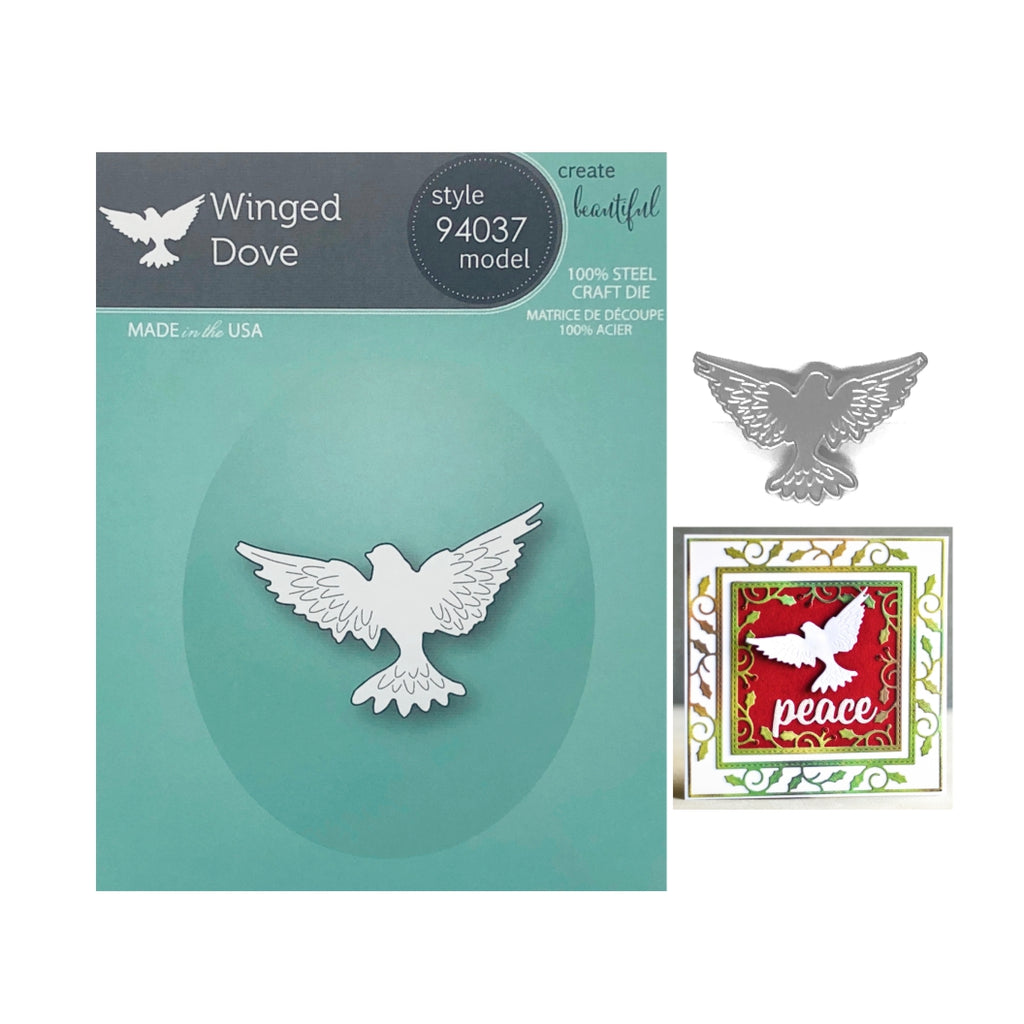 Winged Dove Metal Die Cut by Memory Box Dies 94037 - Inspiration Station Scrapbook Store & Retreat