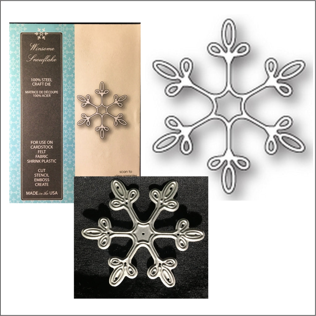 Winsome Snowflake Die Cut by Memory Box Dies 99833 - Inspiration Station Scrapbook Store & Retreat
