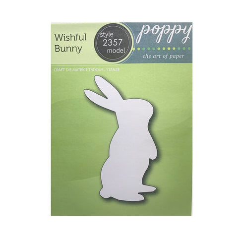 Wishful Bunny Thin Metal Die Cut Large Rabbit by Poppystamps Cutting Dies 2357