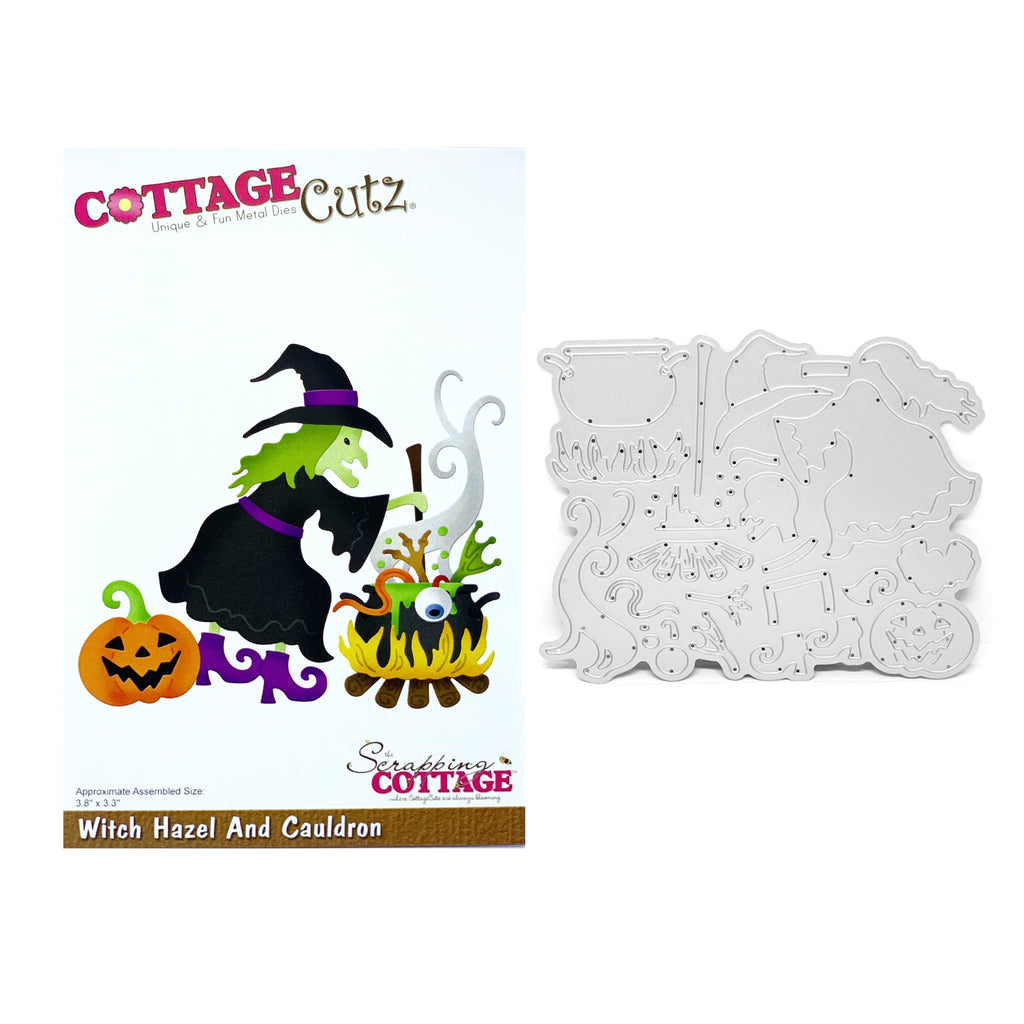 Witch Hazel And Cauldron Die Cut Set by Cottage Cutz Dies CC-532 - Inspiration Station Scrapbook Store and Retreat