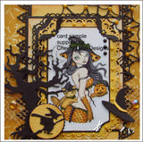 Witch Hunt metal die cut by Cheery Lynn Designs craft dies A192