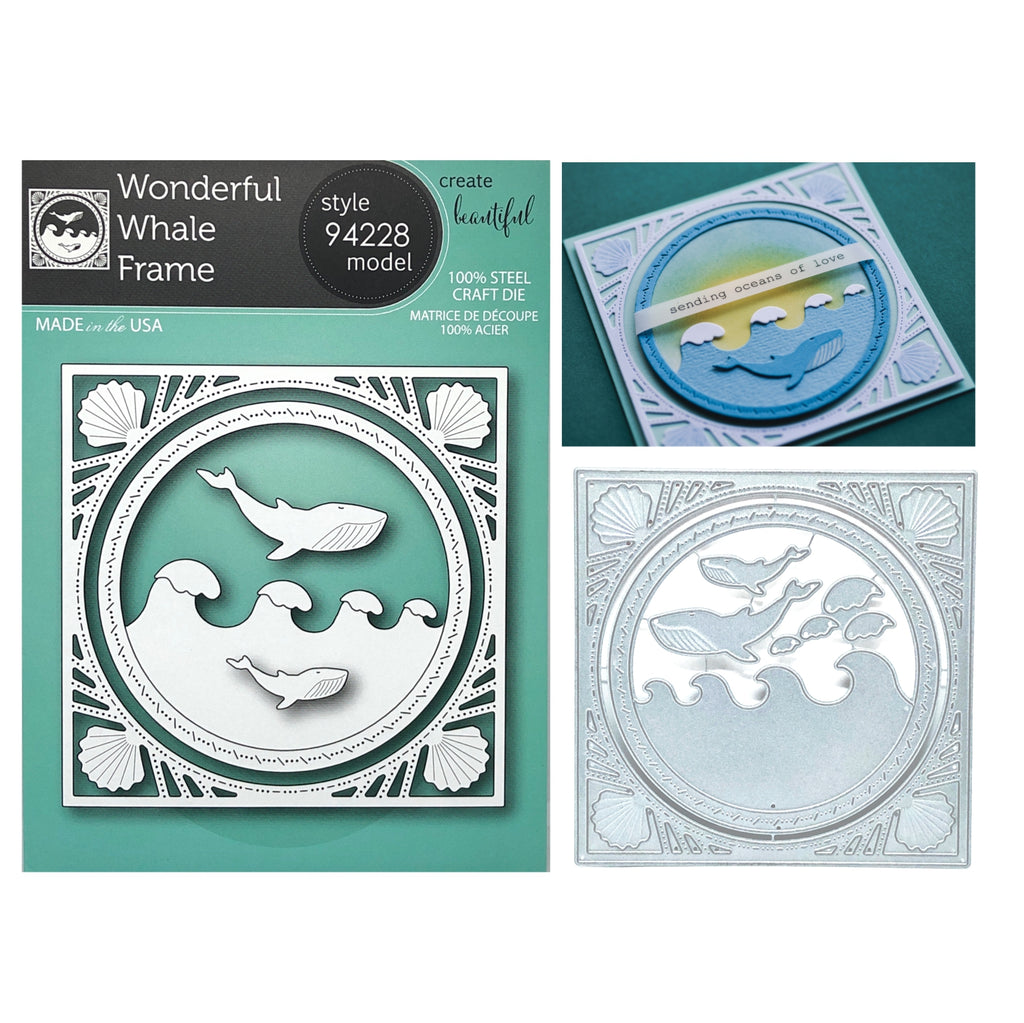 Wonderful Whale Frame Metal Die Cut Set by Memory Box Dies 94228 - Inspiration Station Scrapbook Store & Retreat