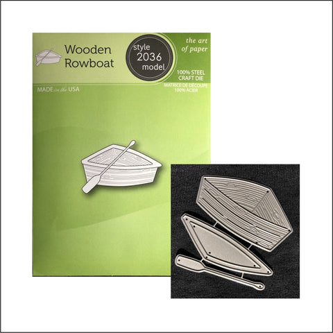 Wooden Rowboat Metal Die Set by Poppystamps Cutting Dies 2036 - Inspiration Station Scrapbook Store & Retreat