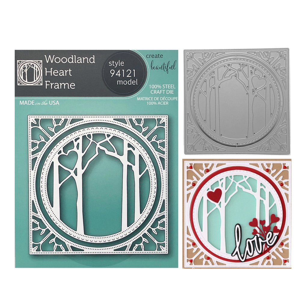 Woodland Heart Frame Metal Die Cut Set by Memory Box Dies 94121 - Inspiration Station Scrapbook Store & Retreat