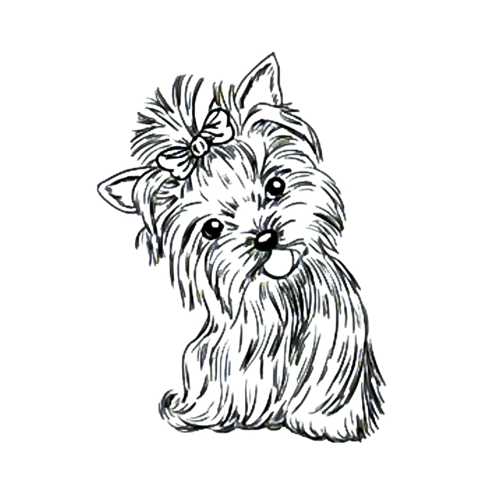Dog Clear Stamp Yorkshire Terrier by Nellie Snellen Cling Craft Stamps
