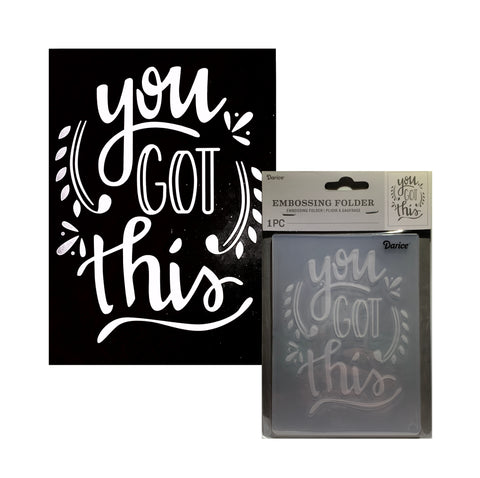 You Got This Embossing Folder by Darice Embossing Folders 30094095
