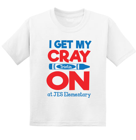 I Get My Cray-On at JES Short Sleeve