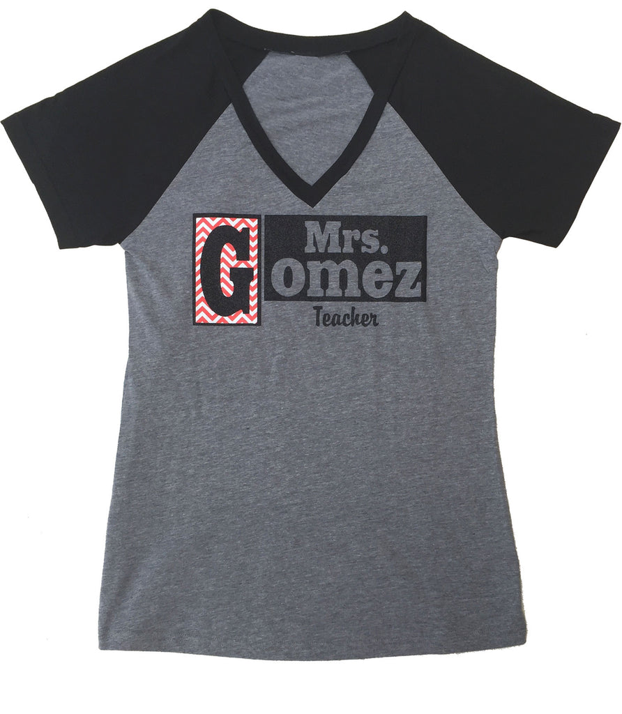 Personalized Name Shirt - Short Sleeve V-Neck