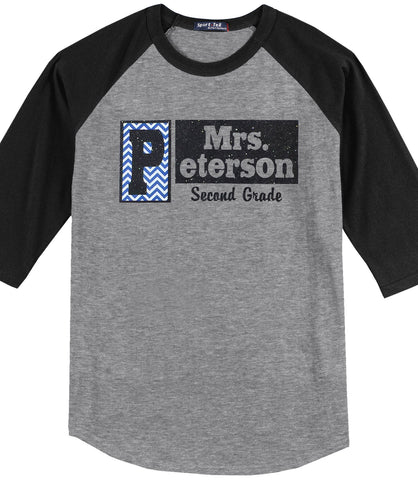 Personalized Name Shirt - 3/4 Sleeve<br />Crew Neck