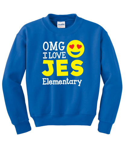 OMG I Love JES! Sweat Shirt