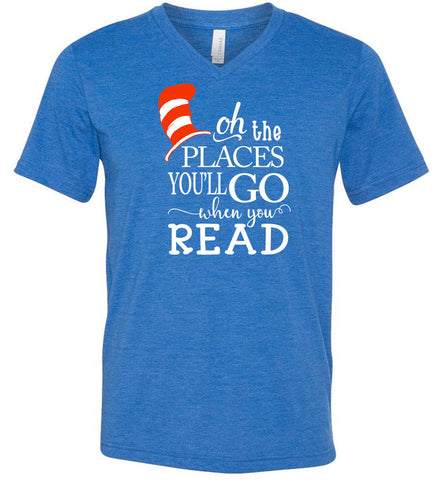 Oh the Places You Will Go V-Neck