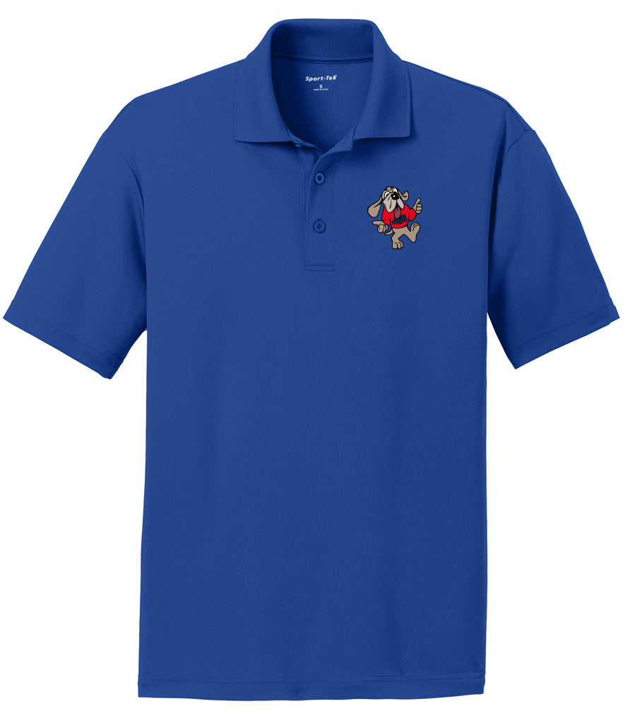 JES Moisture Wicking Polo - Bloodhound Logo