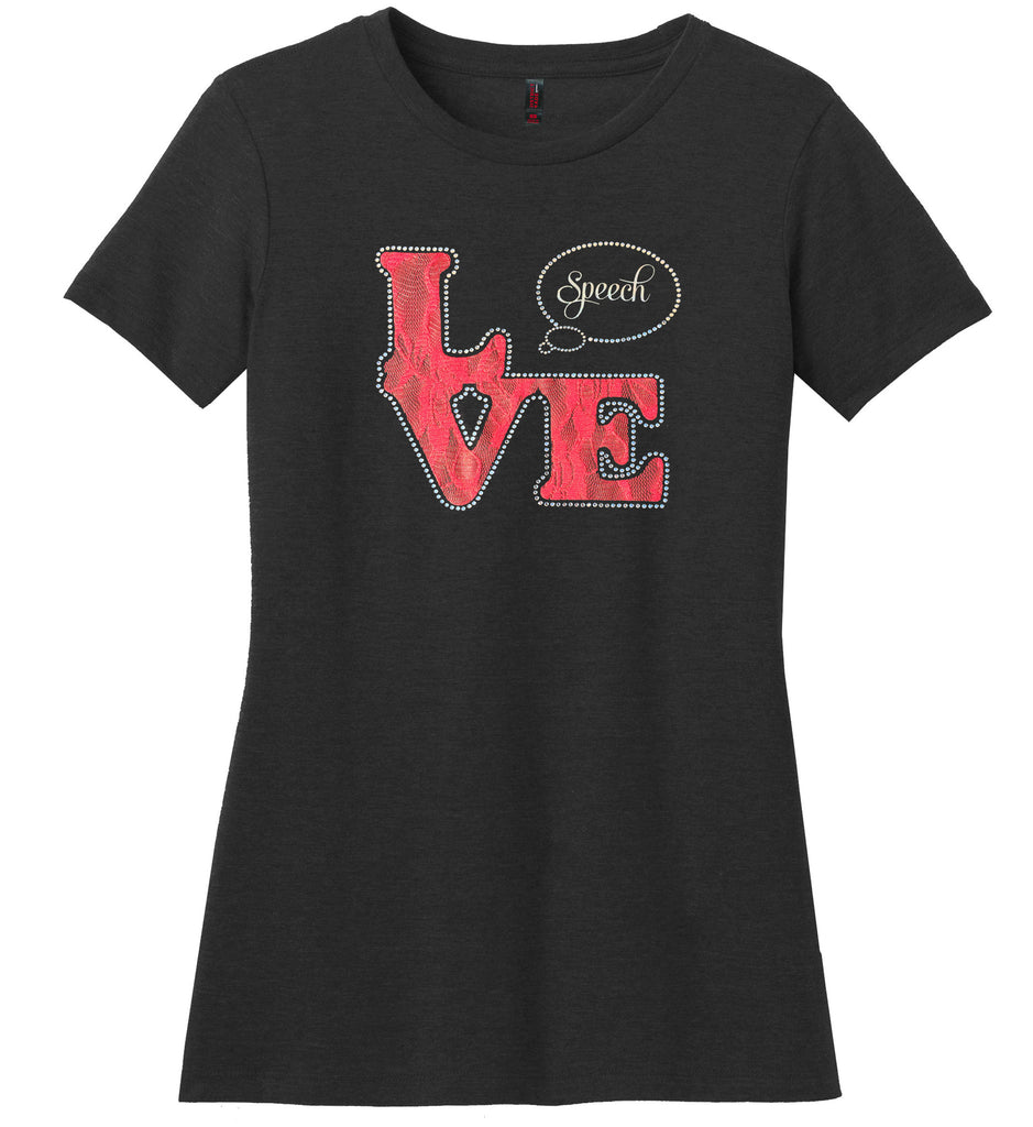 Love Speech - Lace Rhinestone