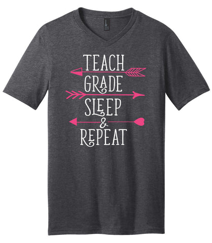 Teach, Grade, Sleep & Repeat<br /> Short Sleeve